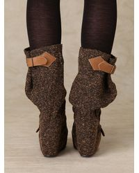 Free People - Brown Longer Lashes Clog Boot - Lyst