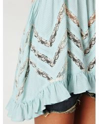 Free People - Blue Voile Trapeze Slip - Lyst