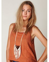 Free People | White Nomad Quartz Necklace | Lyst