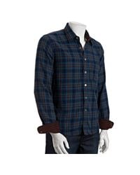 Gilded Age - Blue Teal Thor Plaid Harrison Layered Button Front Shirt for Men - Lyst