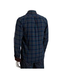 Gilded Age | Blue Teal Thor Plaid Harrison Layered Button Front Shirt for Men | Lyst