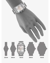 Michael Kors | Metallic Crystal Chronograph Rectangular Bracelet Watch | Lyst