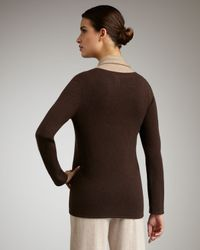 Neiman Marcus - Open Cashmere Cardigan, Brown/taupe - Lyst