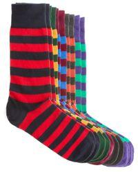 River Island | Multicolor 5 Pack Multi Stripe Coloured Socks for Men | Lyst