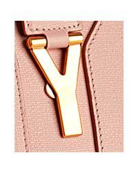 Saint Laurent - Pink Warm Blush Leather Cabas Chyc Top Handle Bag - Lyst