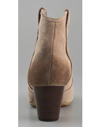 Ash | Natural Jalouse Suede Booties | Lyst