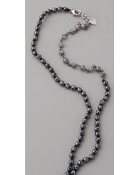 Chan Luu | Black Long Beaded Necklace | Lyst