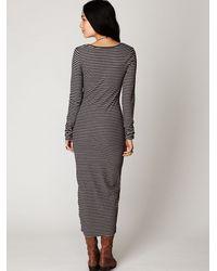 Free People - Purple Costas Striped Maxi Dress - Lyst