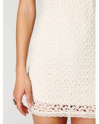 Free People - White Cap Sleeve Gypsy Lace Dress - Lyst