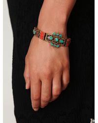 Free People - Pink Coral Moon Shield Bracelet - Lyst