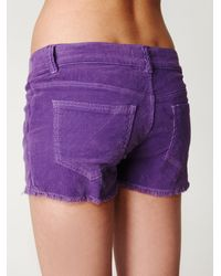 Free People - Purple Lace-up Cord Shorts - Lyst