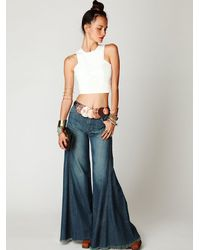 Free People - White Leather Crop Top - Lyst