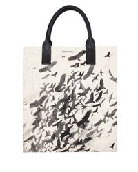 Simeon Farrar | Black Flock Of Birds Canvas Tote Bag | Lyst
