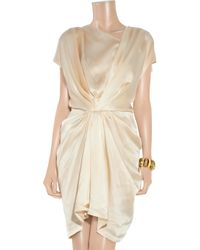 Thakoon Addition | Pink Sandwashed Silk Crepe De Chine Dress | Lyst