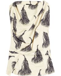 Vivienne Westwood Anglomania | Natural Fond Tassel-print Cotton Top | Lyst