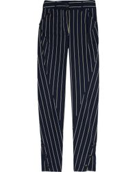 Vivienne Westwood Anglomania - Blue Twisted Striped Cotton-blend Pants - Lyst