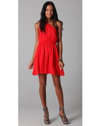 Alice + Olivia | Red Mila Pleated One Shoulder Dress | Lyst