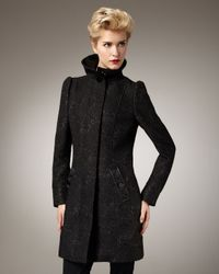 Badgley Mischka | Black Ingrid Brocade Coat | Lyst