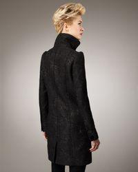 Badgley Mischka - Black Ingrid Brocade Coat - Lyst