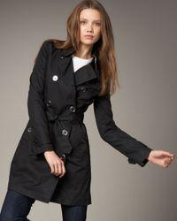 Burberry Brit | Black Balmoral Coat | Lyst