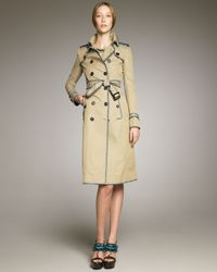 Burberry Prorsum | Natural Whipstitch-trim Trenchcoat | Lyst
