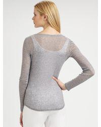 Eileen Fisher | Gray Superfine Long-sleeve Top | Lyst