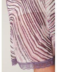 Free People - Purple Tiger Printed Chiffon Slip - Lyst