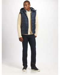 Gant Rugger | Blue Down-filled Hooded Gilet for Men | Lyst