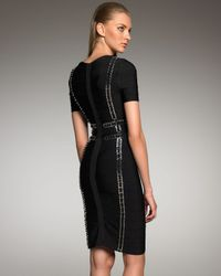 Hervé Léger - Black Chain-link Bandage Dress - Lyst
