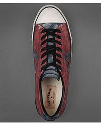 John Varvatos | Red Leather Star Player Oxford for Men | Lyst