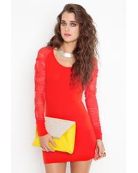 Nasty Gal | Orange Shredded Mesh Dress | Lyst