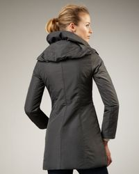 Preta Lobue - Gray Ruffle-collar Coat - Lyst