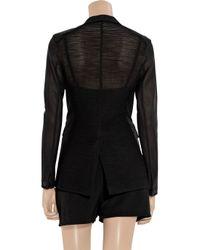 Rag & Bone | Black 42nd Street Silk and Stretch-mesh Blazer | Lyst