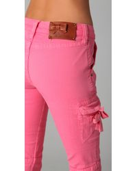 RED Valentino   Pink Skinny Cargo Pants   Lyst