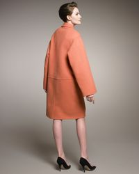 Rochas | Orange Double-face Wool Coat | Lyst