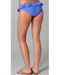 Shoshanna - Blue Ruffle Bikini Bottoms - Lyst
