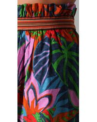 SUNO | Multicolor Layered Hawaii Print Mini Skirt | Lyst