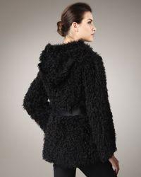 Tasha Tarno | Black Kalgan Lamb Hooded Jacket | Lyst