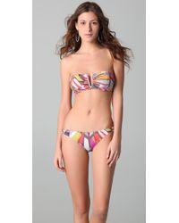 Tibi | Multicolor Prisms Bandeau Bikini Top | Lyst