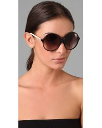 Tom Ford - White Rhonda Sunglasses - Lyst