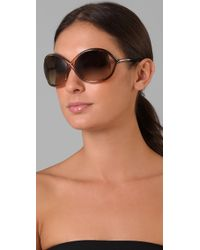 Tom Ford | Brown Whitney Sunglasses | Lyst