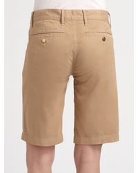 Tory Burch - Natural Bermuda Chino Walking Shorts - Lyst