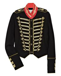 Alice By Temperley | Black Game Structured-jersey Military Jacket | Lyst