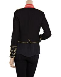 Alice By Temperley - Black Game Structured-jersey Military Jacket - Lyst