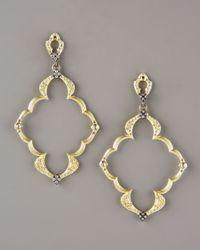 Armenta - Metallic Open-frame Earrings - Lyst