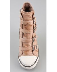 Ash | Pink Thelma Wedge Sneakers | Lyst