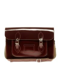 Cambridge Satchel Company - Red Exclsuive To Asos Oxblood Patent Satchel - Lyst