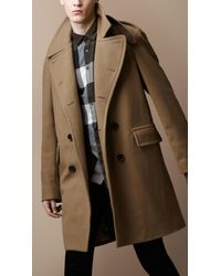 Burberry Brit | Natural Wool Officer Coat for Men | Lyst