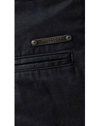 Burberry Brit - Blue Slim Fit Cotton Chino Trousers for Men - Lyst