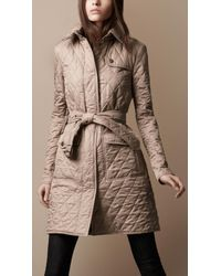 Burberry Brit | Natural Quilted Trench Coat | Lyst